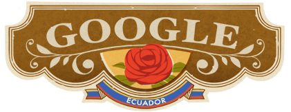 Google Logo: Declaration of Independence of Quito - 2011 - Ecuador Independence Day